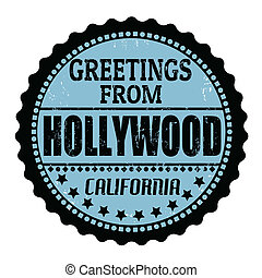 Greetings from Hollywood stamp