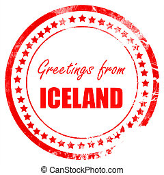 Greetings from iceland card with some soft highlights