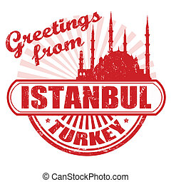 Greetings from Istanbul stamp