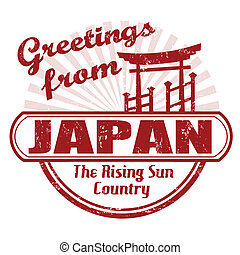Greetings from Japan stamp