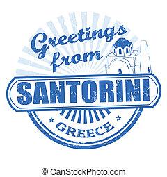 Greetings from Santorini stamp