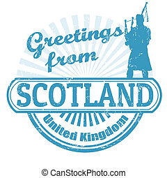 Greetings from Scotland stamp