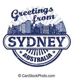 Greetings from Sydney stamp