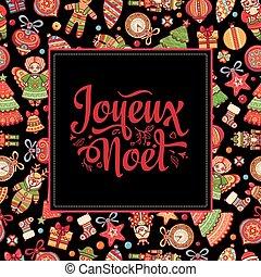 greetings., joyeux, card., noel., navidad