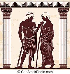 grego, antiga, man.