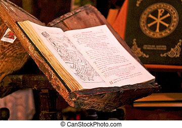 grego, bíblia, antiga, santissimo, ortodoxo