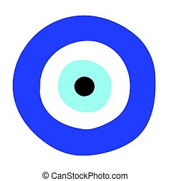 grego, olho mal, vetorial, -, símbolo, de, proteção