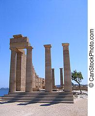 grego, ruínas antigas, templo