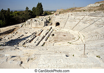 grego, teatro, neapolis, de, syracuse
