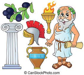 grego, tema, cobrança, 1