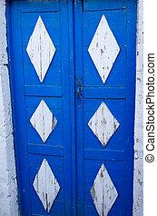 grek, dörr, typisk