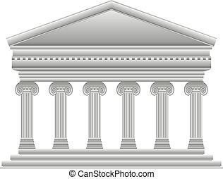 grek, jonisk, tempel