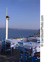 grek, restaurang, öar