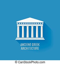 grek, starożytny, architektura, ikona