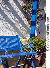 grek, streetplats, typisk, öar