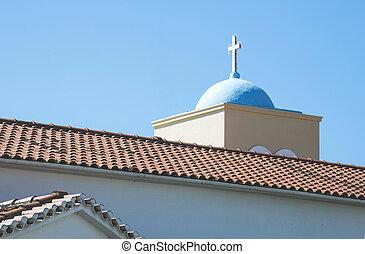 grek, typisk, kyrka