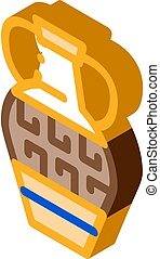 grek, vektor, vas, ornamental, isometric, illustration, ikon