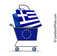 grekland, skuld, uppköp, europa, grek, försäljning