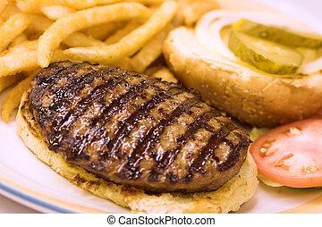 grelhados, hamburger