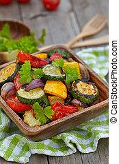 grelhados, legumes