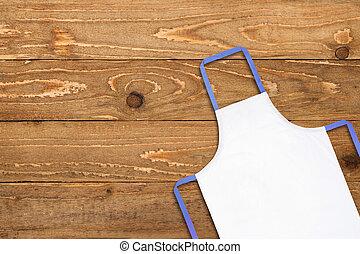 grembiule, vecchio, legno, contro, struttura, bianco