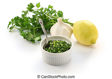 gremolata - italian chopped herb condiment
