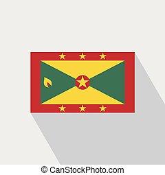 Grenada flag Long Shadow design vector