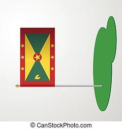 Grenada Flag Pole