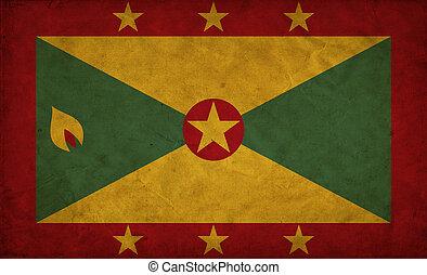 Grenada grunge flag