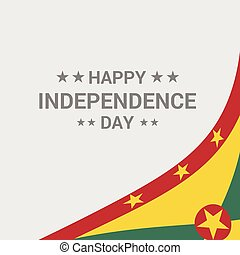 Grenada Independence day typographic design with flag vector