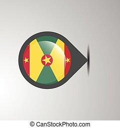 Grenada Map Pin