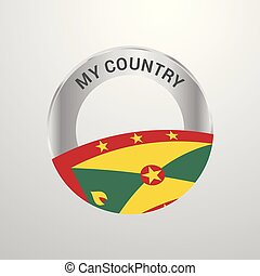 Grenada My Country Flag badge