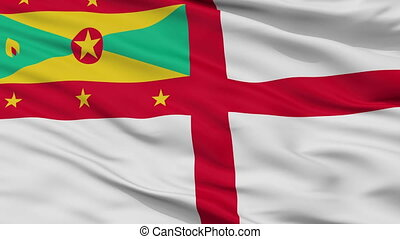 Grenada Naval Ensign Flag Closeup Seamless Loop - Naval ...