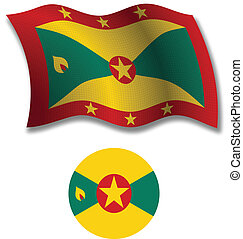 grenada textured wavy flag vector
