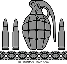 grenade and bullets