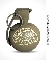 Grenade - brain damage concept