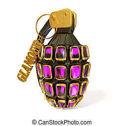 grenade - glamour grenade on white background