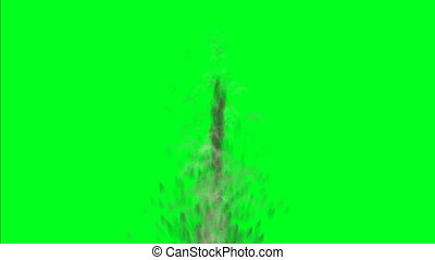 Grenade Explosion On Green Screen