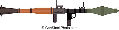 grenade, fusil, fusée, arme, fusil, vecteur, anti-tank, ...