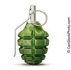 grenade isolated on a white. 3d illustration