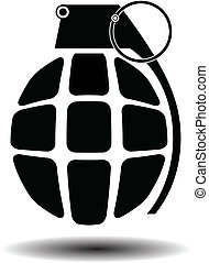 grenade isolated vector
