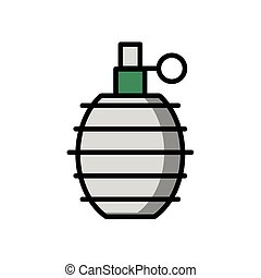 grenade military force isolated icon