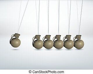 Grenade - terror escalation - Grenade - Newtons cradle -...