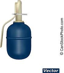 grenade vector photorealism - grenade in vector isolated on...