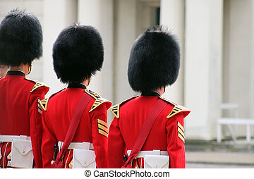 Grenadier Guard Inspection2 - Grenadier guards at attention...