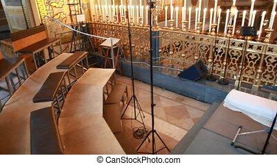 grenier, chœur, lustre, sauveur, église, cathédrale, christ