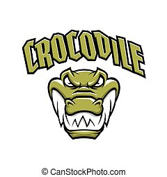 Grenn crocodile head mascot