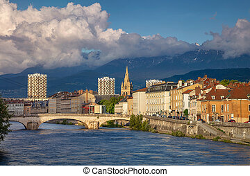 Grenoble. - Cityscape image of Grenoble, France during...