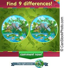 grenouille, libellule, différences, 9