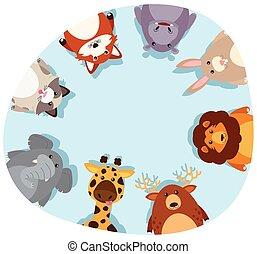 grens, dieren, ronde, schattig